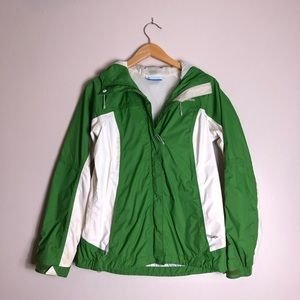 Men's Columbia Green Windbreaker Jacker